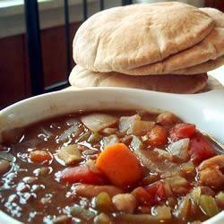 Marokańska zupa z soczewicą