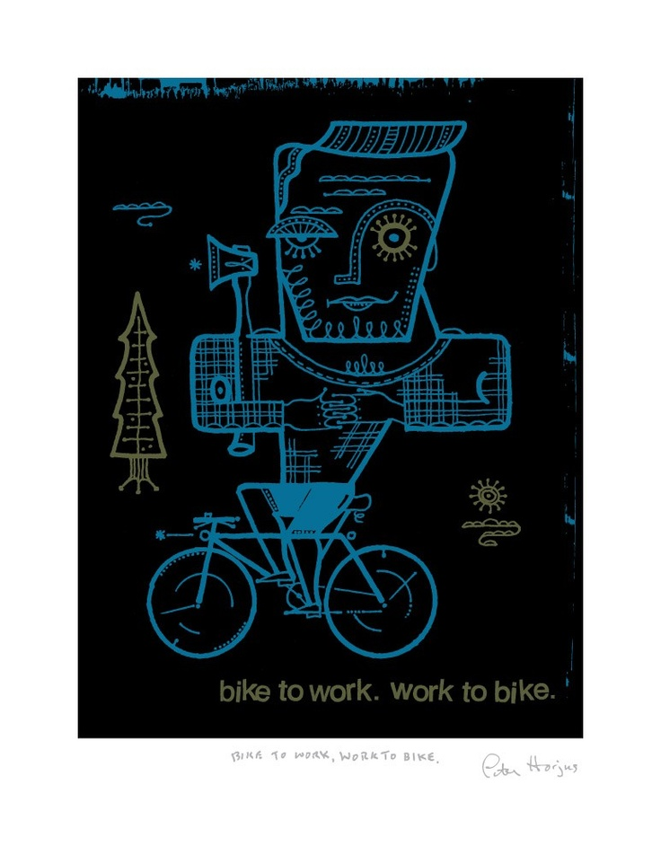 Bike to work. Work to bike.
