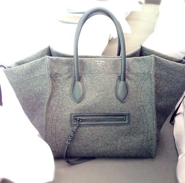 grey flannel celine bag--image via Malibu Editorial ...
