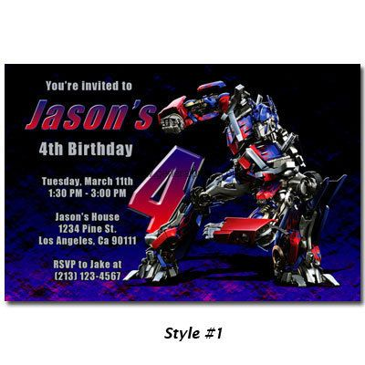 20 best images about Transformers Party – Transformer Party Invitations
