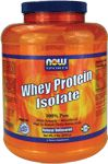 Now Foods Whey Protein Isolate. Ingredients: Microfiltered whey protein isolate, soy lecithin (<1%)
