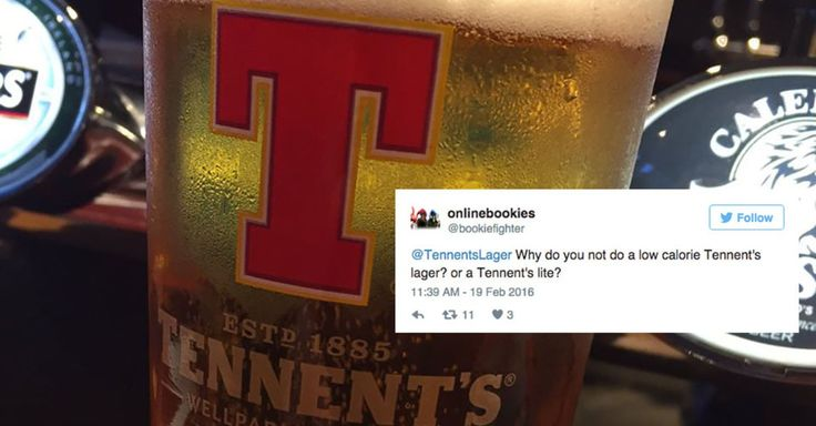 Man asks Tennent's Lager about low calorie options, gets spectacularly Scottish response