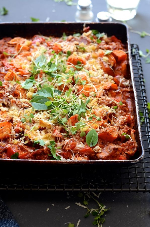 Sweet Potato Bake With Tuna And Veg