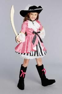 Pink Pirate Costume for Girls