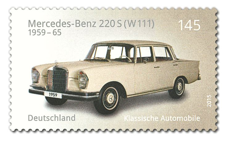 COLLECTORZPEDIA: Germany Stamps Classic German Cars Mercedes-Benz 220 S (W 111)