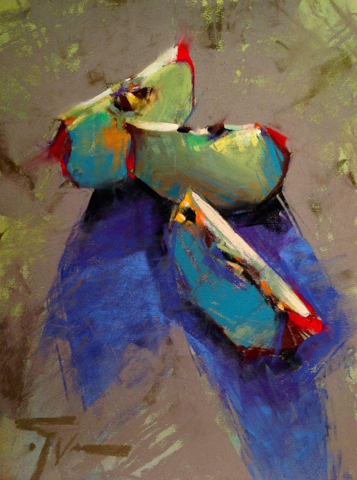 """""""Translucent Triplets"""" 9x12 pastel by Jen Evenhus"""