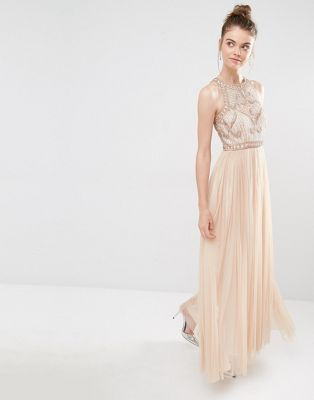 Frock and Frill Tulle Maxi Dress With Embellished Bodice