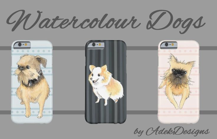 Watercolor Dogs by AdekDesigns, adorable pomeranian and brussels griffons on phone cases, mugs and more! They're painted by hand, and then scanned in and put onto digitally painted backgrounds. Pomeranians: http://www.zazzle.com/adekart/gifts?cg=196654502927652146&rf=238980827295438691 Brussels Griffons: http://www.zazzle.com/adekart/gifts?cg=196328663159547243&rf=238980827295438691