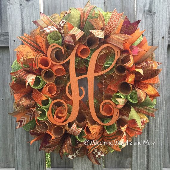 Hey, I found this really awesome Etsy listing at https://www.etsy.com/listing/456750734/fall-monogram-wreath-fall-wreath-deco