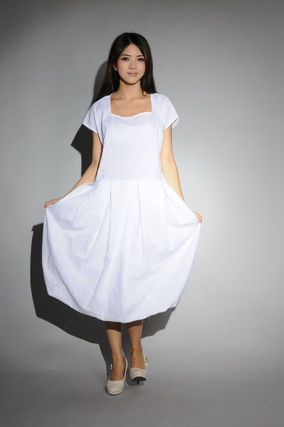 white cotton chir sundress(more colour and size choice)