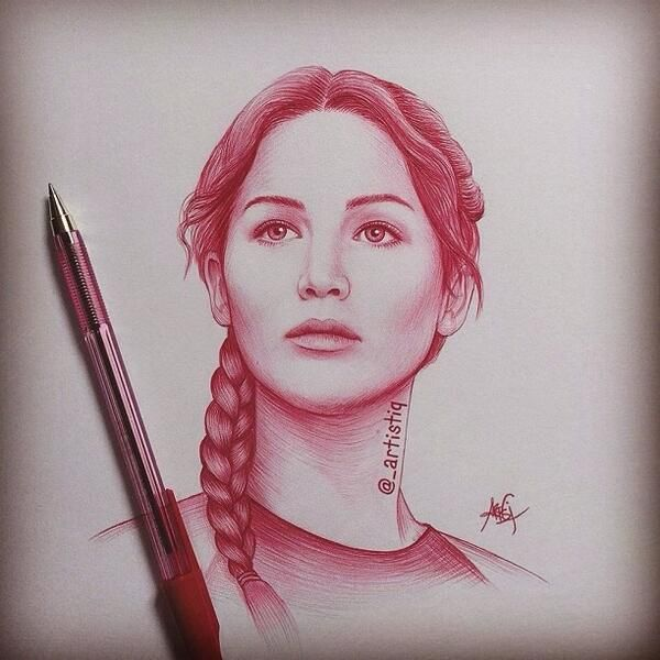 25 trending ballpoint pen ideas on pinterest ballpoint pen katniss everdeen drawn in ballpoint pen by artistiq on twitter ccuart Image collections