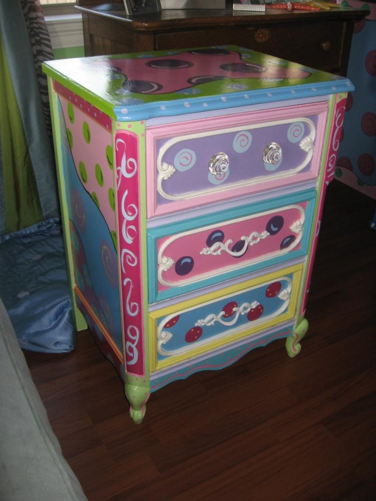 142 Best Hand Painted Dressers Chests Images On Pinterest Painted Furniture Diy And