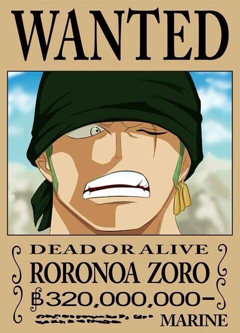 Roronoa zoro roronoa zoro pinterest roronoa zoro anime and manga - Affiche one piece wanted ...