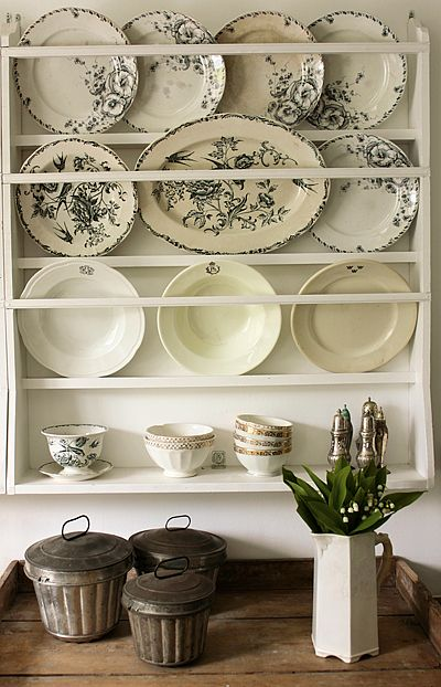 Swedish styling. Easy to construct and fill with vintage transferware and ironstone.