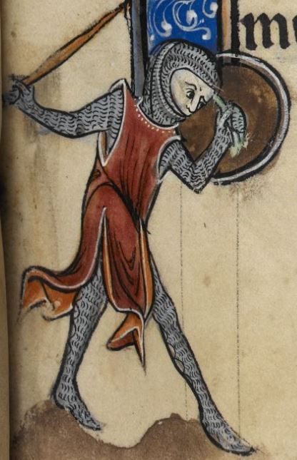 "Detail from ""The Rutland Psalter"", medieval (c1260), British Library Add MS 62925. f 91r"