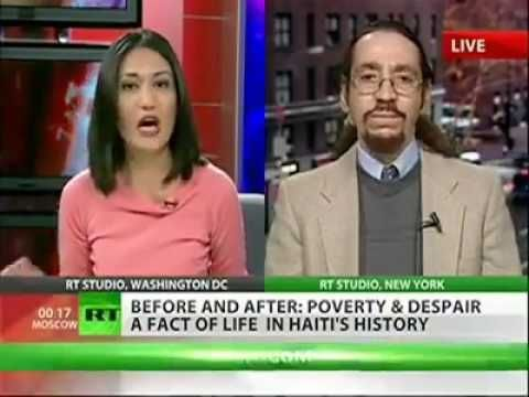 Why Haiti is poor? Is it really? That fat Dominican whore I believe brought Glen Ford from the Black Agenda Report to back her statement as to show Haiti is incapable of governing herself but got a dose of reality about the true nature of Haiti hardship. She kept cutting him off so fucken rude!!