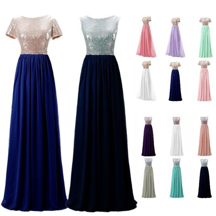 Sequins Maxi/Long Formal Party Prom Gowns Bridesmaid Wedding Dresses Plus Size #Unbranded #Maxi #Prom