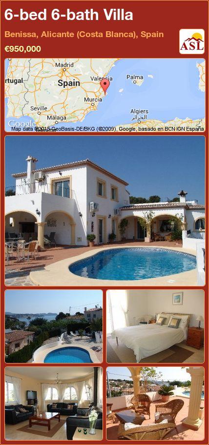 6-bed 6-bath Villa in Benissa, Alicante (Costa Blanca), Spain ►€950,000 #PropertyForSaleInSpain