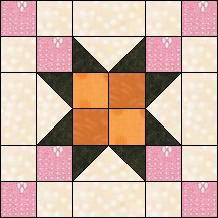 Block of Day for October 20, 2016 - Six Patch Star-strip-piecing-The pattern may be downloaded until: Monday, October 31, 2016.