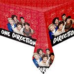 Table Cloth: One Direction Party Plastic Tablecover (each)