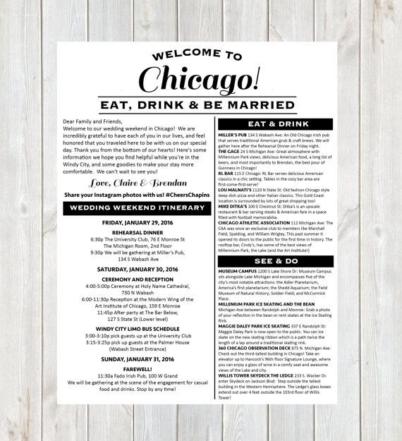 Welcome Letter Wedding Welcome Letter Hotel by DesignandPop
