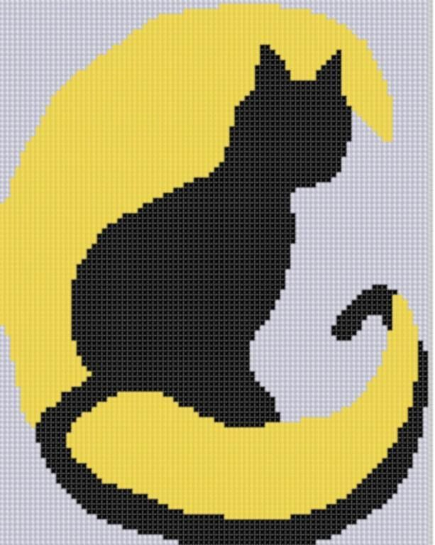 Cat and Moon Cross ... by Motherbeedesigns | Embroidery Pattern - Looking for your next project? You're going to love Cat and Moon Cross Stitch Pattern  by designer Motherbeedesigns. - via @Craftsy