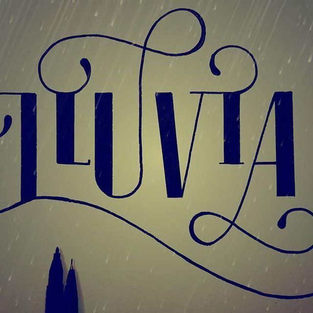 Días y noches de #Lluvia #Frío #Lettering y #Felicidad