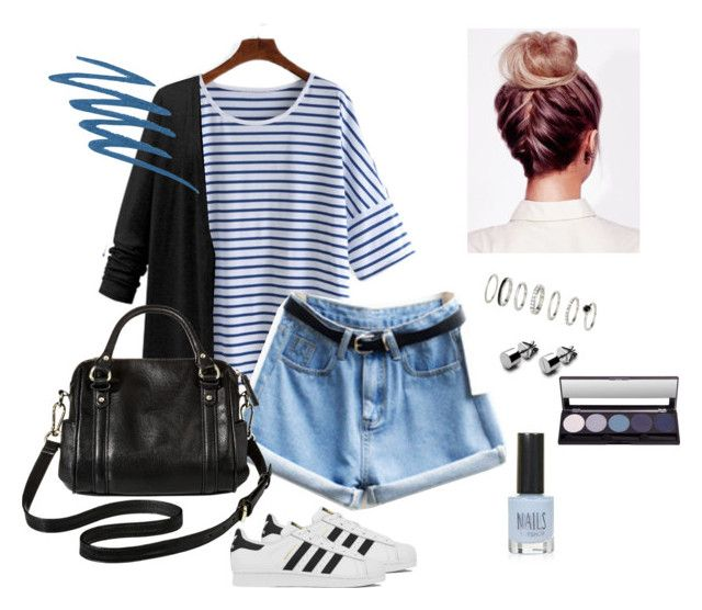 Untitled #10 by nastja11t on Polyvore featuring polyvore, fashion, style, adidas, Merona, Urban Decay, Topshop and clothing