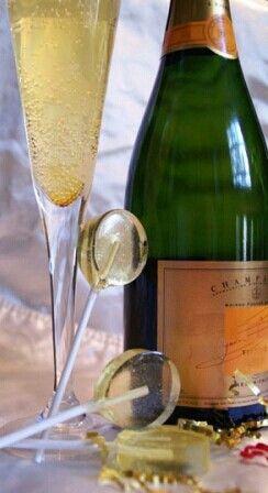 Champagne lollipops