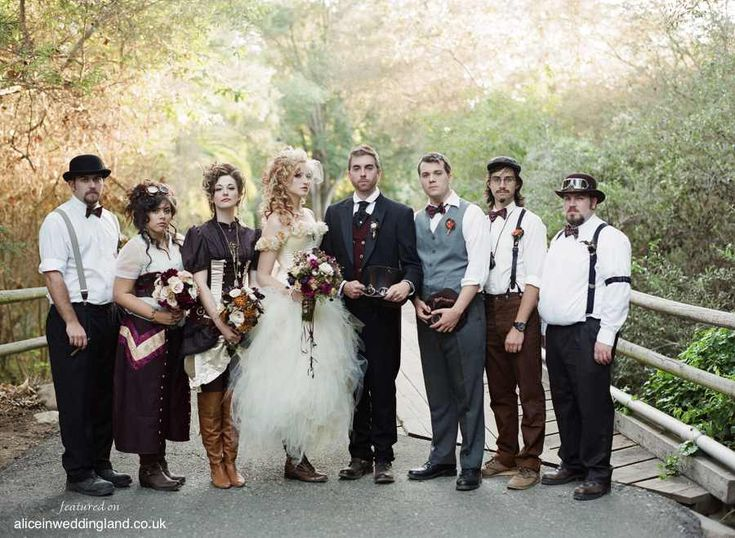 Steampunk-wedding-unique-wedding-blog-BraedonFlynn12  i so love all these looks, what a super beautiful sweet wedding theme