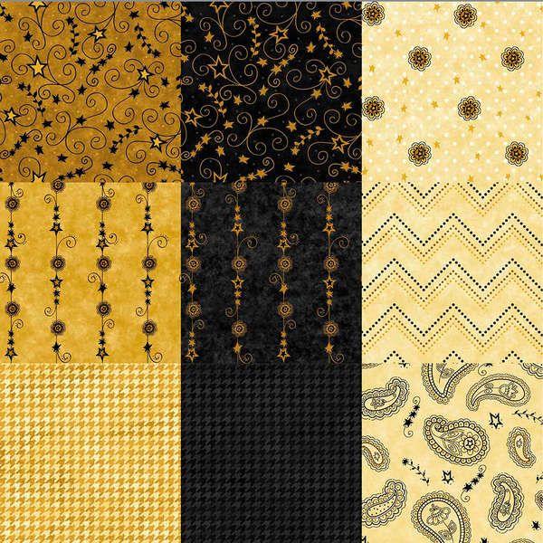 In Cahoots 18 Fabrics Fat Quarters & 1 Panel