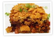 Vegetable FRITOS® Chili Pie Recipe - Frito-Lay Recipes - my FAV recipe is HAYSTACKS....still looking