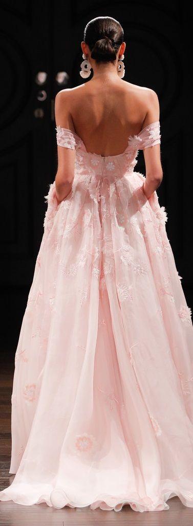 Rosamaria G Frangini | ColorDesire Pink |Naeem Khan Bridal Spring 2017