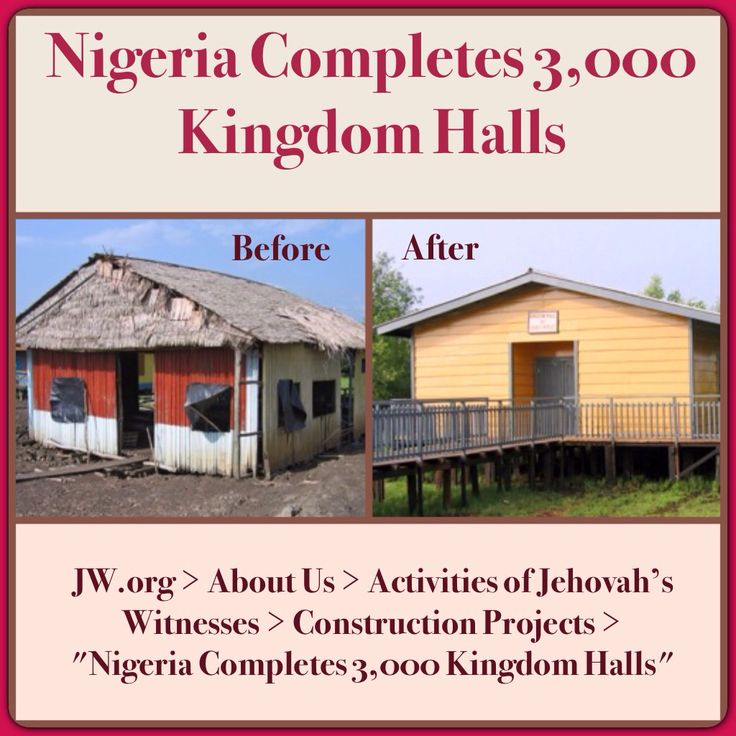 "NIGERIA - A special meeting was held to celebrate a milestone with Kingdom Hall construction in Nigeria. A brief history of the work of Jehovah's Witnesses since the 1920's was featured. ♥•.¸¸.•♥ JW.org > About Us > Activities of Jehovah's Witnesses > Construction Projects > ""Nigeria Completes 3,000 Kingdom Halls"" ༺♥༻ JW.org has the Bible and study aids to read, watch, listen and download in 700+ (sign included) languages. Also home bible studies. Plus now TV.JW.org and all at no charge."