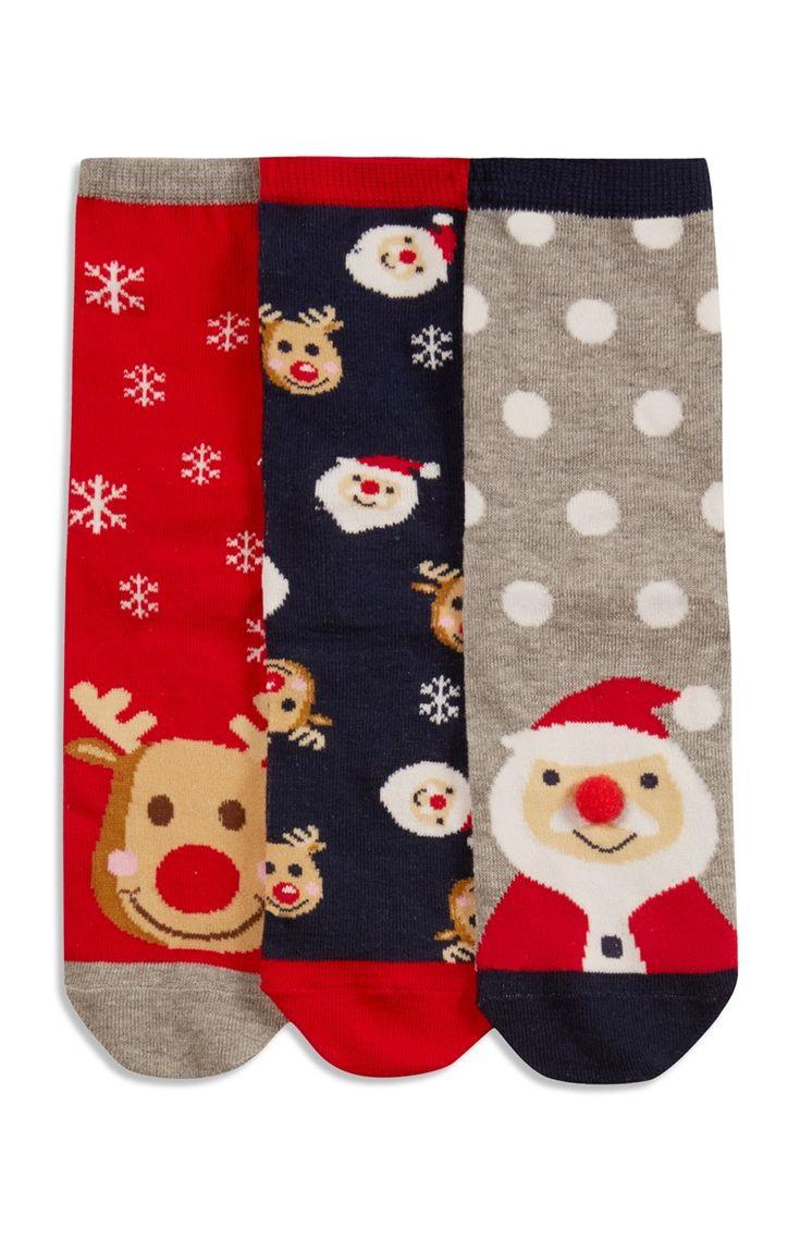 Primark - Weihnachtssocken, 3er-Pack