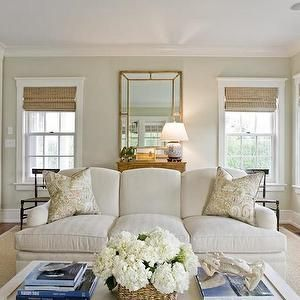Light Khaki Paint Colors, Cottage, Living Room, Benjamin Moore Nantucket Breeze…