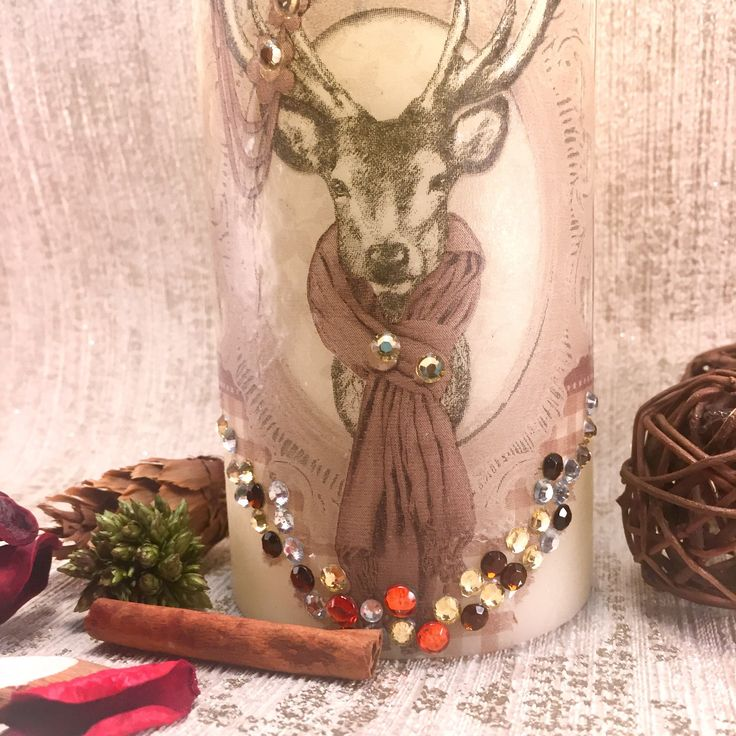Excited to share the latest addition to my #etsy shop: Stag, LED wax candle, Christmas Decoration, Christmas Candle, christmas light, #art #mixedmedia #christmas #winterdecor #wintercandle #stagcandle #waxcandle