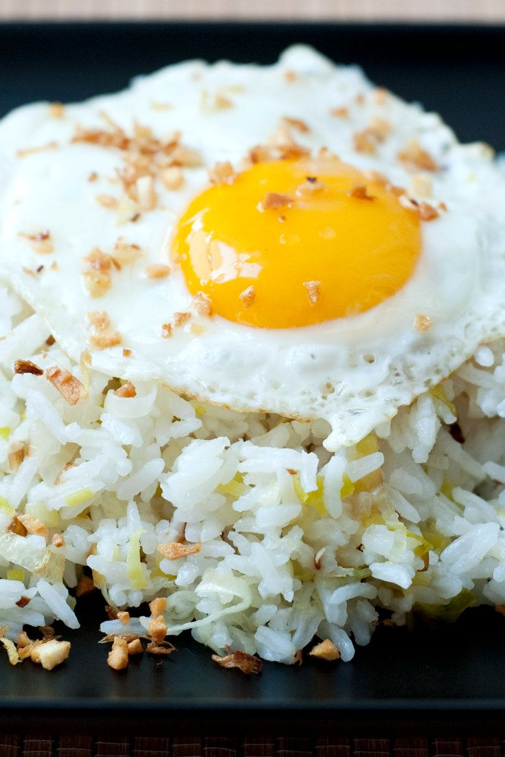 Like all fried-rice dishes it begins with leftover rice (freshly cooked rice is too moist to fry well). It's jasmine rice here, but white from Chinese takeout works nearly as well and is more convenient. (Photo: The New York Times)