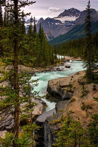 Mistaya River and Canyon, Banff National Park, Alberta, Canada
