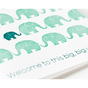 Welcome to this big, big world Card