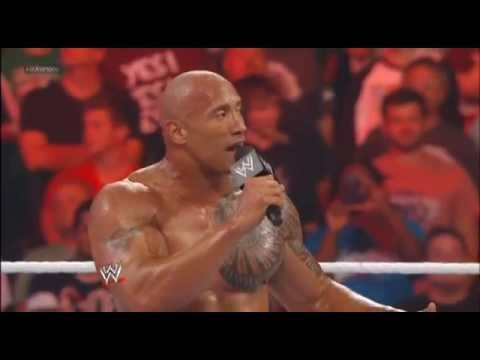 RAW 1000 Off the Air - John Cena and The Rock attacking Big Show ! - YouTube