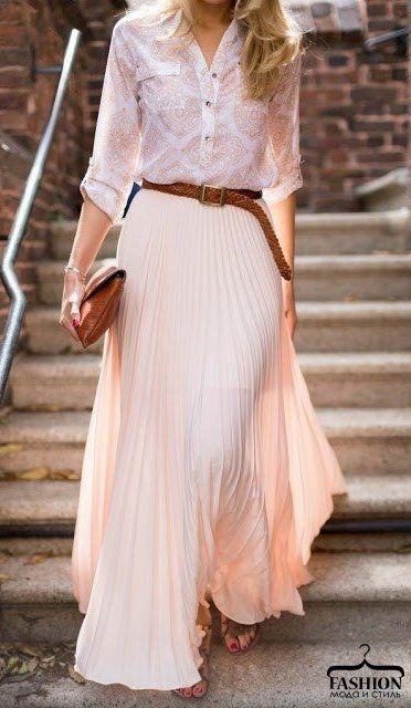 Стильные юбки макси в образах