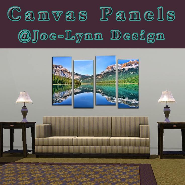 Emerald Lake Canvas Panels in Virtual Room by *Joe-Lynn-Design on deviantART