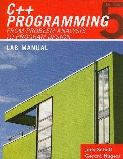 Lab Manual for Malik's C++ Programming: From Problem Analysis to Program Design by D. S. Malik. $13.95. Publisher: Course Technology; 5 edition (March 29, 2010). Publication: March 29, 2010. Edition - 5 http://www.tykans.com