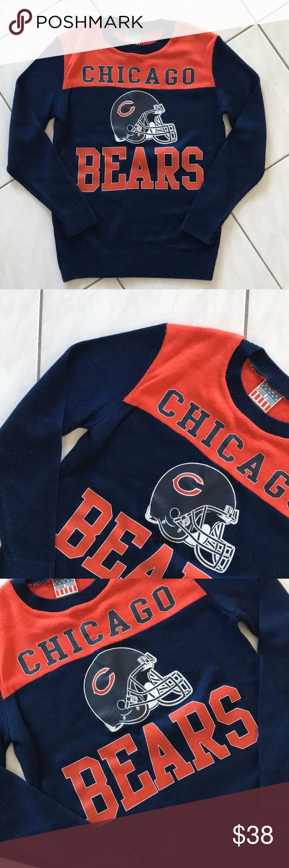 Junk Food Chicago Bears Sweater NWOT NWOT Junk Food Chicago Bears Sweater, size S, super soft  Bundle & Save Junk Food Sweaters