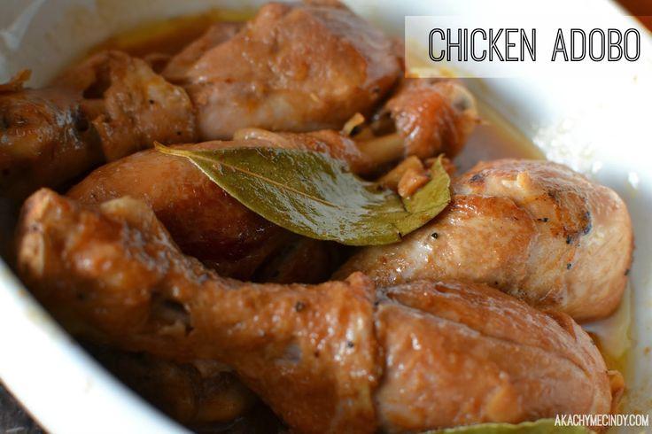 Filipino recipe chicken adobo cooking pinterest for Adobo filipino cuisine