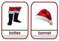 imagier de Noël bottes et bonnet