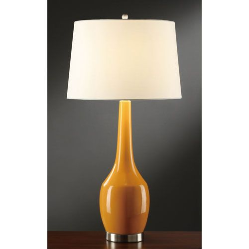 Nina Orange Table Lamp Crestview Collection Shaded Table Lamps Lamps