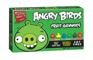 Angry Birds Green Gummies Case tasty movie theater candy