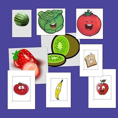 Recursos para el aula: Bits de inteligencia. Frutas y verduras.Hoy te dejamos estas simpáticas laminas de frutas y verduras para repasar con los peques en clase.